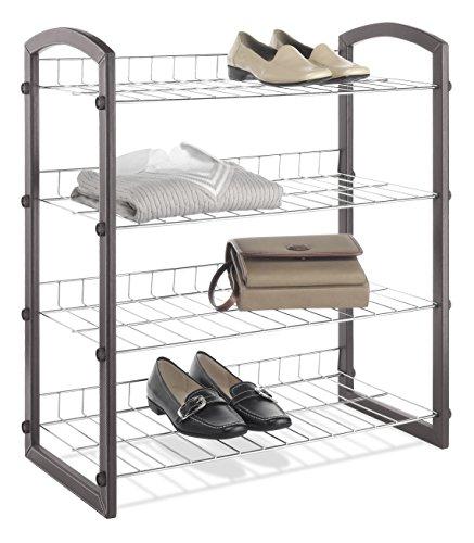 Whitmor Faux Leather 4-Tier Closet Shelves