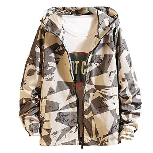 FRAUIT Classics herenjack mode print capuchon vrijetijdsjack sportjack overgangsjack bomberjack herfst winter softshell jack streetwear M-5XL