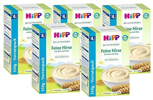 Hipp Brei Feine Hirse, 5er Pack (5 x 350g)
