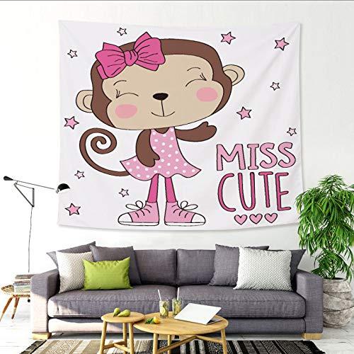 nobranded Nettes Baby Elefant Dekoration Wandbehang Kinderzimmer nach Hause Tapisserie Wohnzimmer Dekoration Hintergrund Stoff
