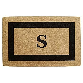 Heavy Duty 22  x 36  Coco Mat Black Single Picture Frame Monogrammed S