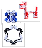 3 Pack Snake Cube Twist Puzzles Magic Variety Popular Twist Kids & Adult Game Stress Reliever Transformable Cube Toy
