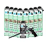 Industrial Products Seal Spray Foam High Performance Closed Cell Insulating Foam Can Kit wGun Foam Applicator and 1 Can of Cleaner (200 Board FT-8 Cans)