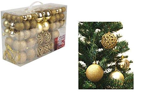 Lot 100 boules de Noël 3/4/6cm - Noel Décoration Sapin - Or - 787