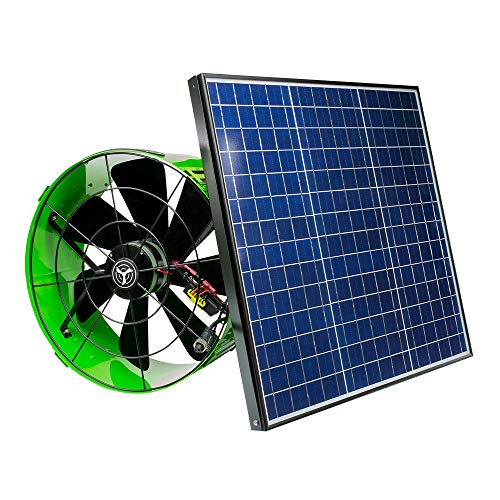 QuietCool 40 Watt Solar Powered Gable Mount Attic Fan