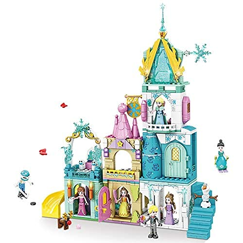 Bloques de construcción Friends Frozen Princess Magic Castle House Palace Bloques de construcción Kit Bricks Classic Movie Model Kids Juguetes para niños Regalo