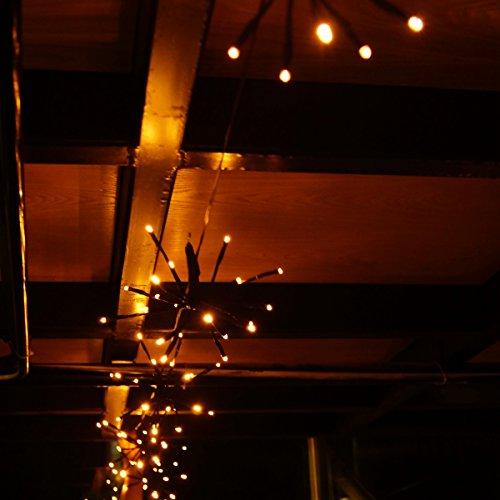 LED lichtketting waterdicht 2m 100 LEDs (5 * 20er LED) tuin en zwembad decoratie licht 31V DIY deco licht voor thuis, feest, Kerstmis, bruiloften - warm wit
