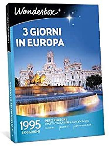 Wonderbox - Cofanetto Regalo - Europa - 3 Giorni in Europa - Valido 3 Anni e 3 Mesi