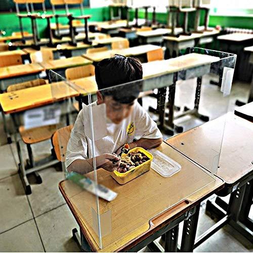 Multifuncional deflector, Escritorio del estudiante y comedor Junta Aislamiento Junta de Protección de la tabla, transparente Reflectores de seguridad esquinas redondeadas...