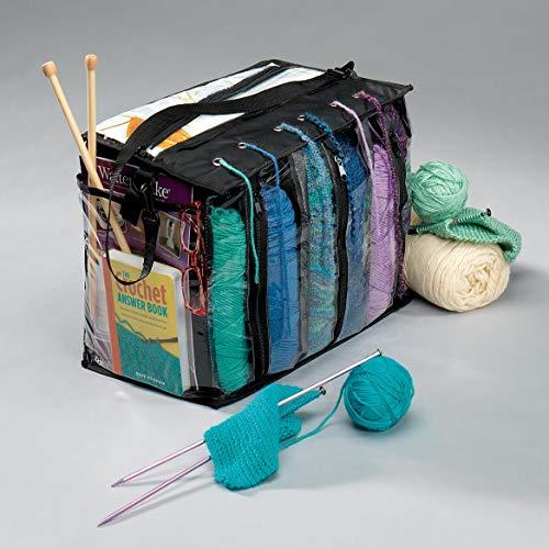 Miles Kimball Knitting Tote Bag, 18 x 11 x 1 inches