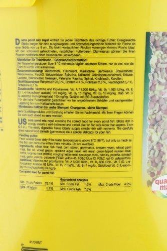 sera 07108 pond mix royal 21 l – Futtermischung aus Flocken, Sticks und mit 7 % Gammarus als Leckerbissen für alle Teichfische - 6