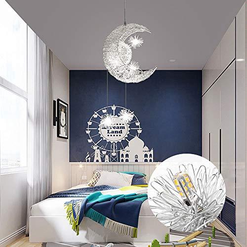 Sunsbell Creativo Luna y Estrellas Lámpara Colgante LED de