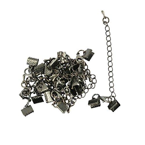 Milageto Terminales de crimpar de cinta de 12 piezas y terminales para cables con cadena de extensión con mosquetón
