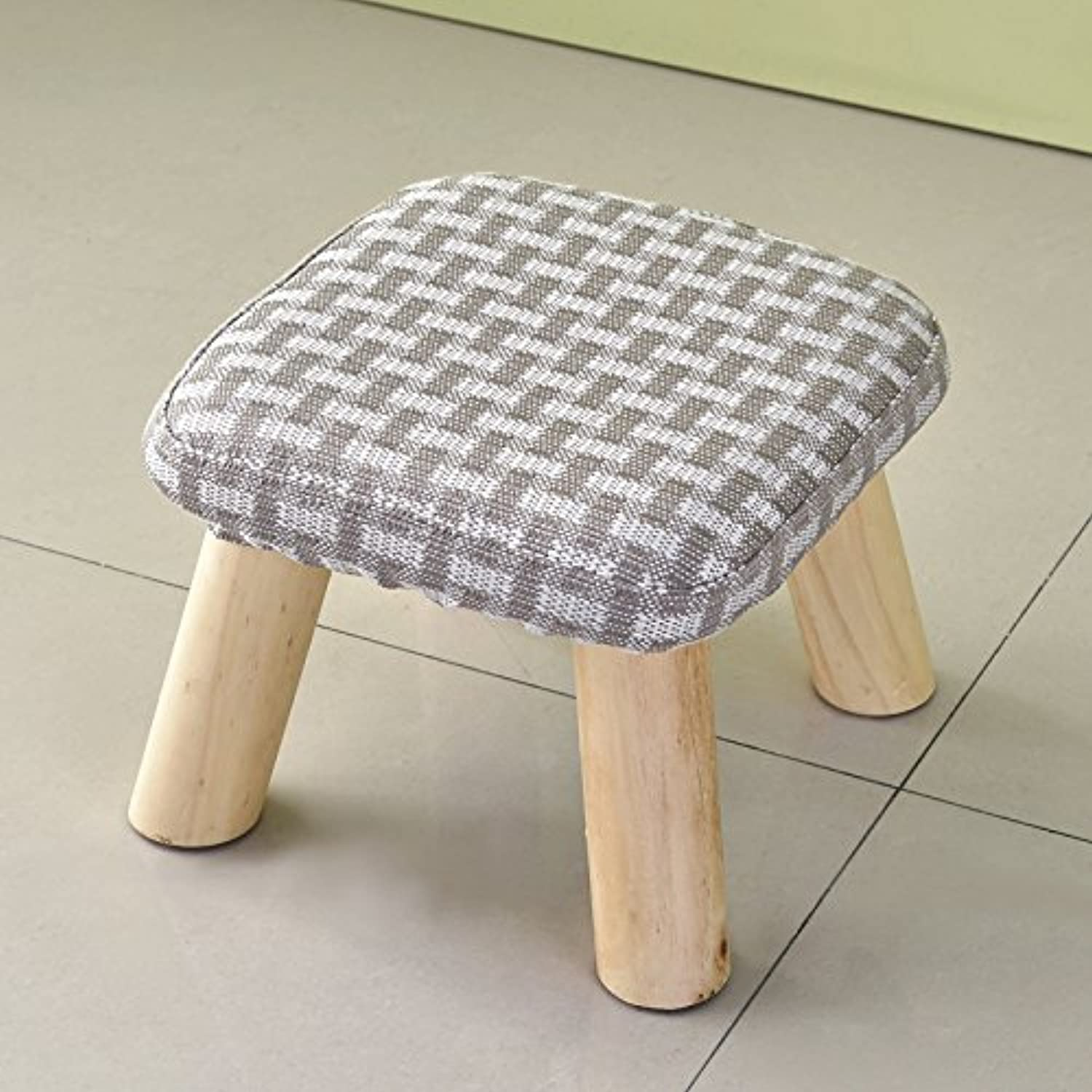 Dana Carrie Stool Round stool Solid Wood Contemporary Party Chair Cloth Sofas stools Chairs Home Tea a Couple of Adult Low stools, Wooden Benches to Implementation