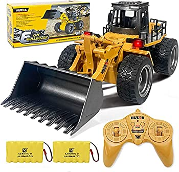 Remote Control Bulldozer Toys 1 16 Hobby RC Trucks Caterpillar Aluminum Alloy Rc Front Loader 4WD for 4-15 Years Old Boys Kids Birthday Christmas Gift