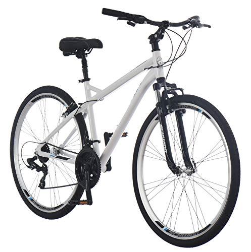 Schwinn Network 3.0 700C Men's Hybrid Bicycle, White/Blue, Model Number: S4026CAZ