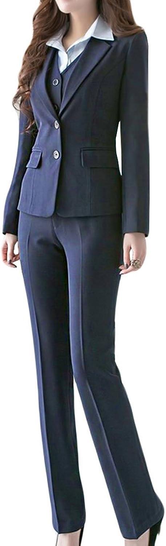 MFrannie Women's Business Office OL Work Blazer Jacket and Pants Suit Set