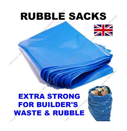 100 bolsas para escombros de alta resistencia, color azul