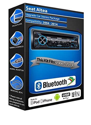 In Car Emporium Seat Altea Lecteur CD, Sony Mex-n4200bt stéréo de Voiture Mains Libres Bluetooth, USB, aux