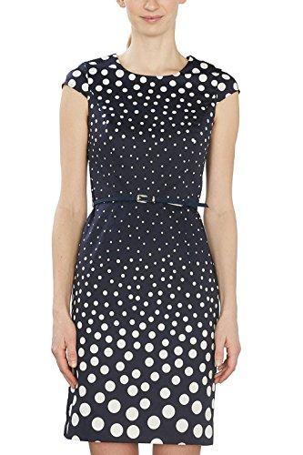 ESPRIT Collection Damen 027EO1E014 Kleid, 400/NAVY, 36