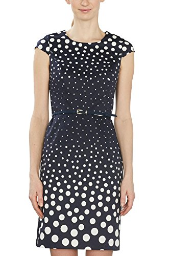ESPRIT Collection Damen 027EO1E014 Kleid, Blau (Navy 400), 36