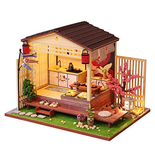 tulipes Kit De Bricolaje En Miniatura 3D Dollhouse DIY, Cabina De Estilo Japonés, para Regalo De Cumpleaños De San Valentín (Casa De Flores De Cerezo) Dependable