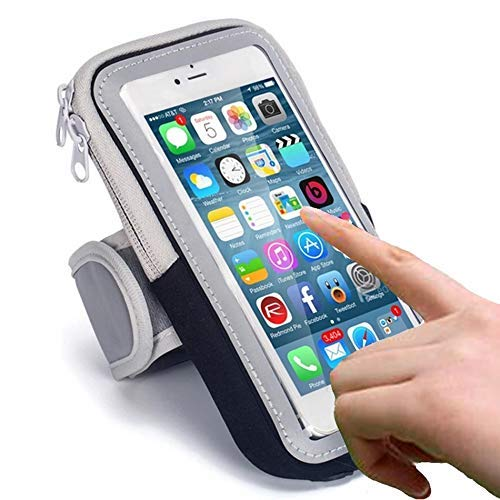 CEUTA® All Android and iOS Mobile Phones Universal Waterproof Hand Fitness Armband Pouch/Arm Belt/Case for Running Hiking Jogging Sports and Gym Activities, Up to 6.5inch - Multi Color