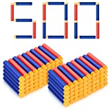 Forliver Refill Darts, 500 Pack Refill Bullets Compatible with Nerf Guns for Nerf N-Strike Elite Series Blasters Toy Guns. Kids Christmas Role Play Nerf Battle Game Gift (2019 Upgraded Version)