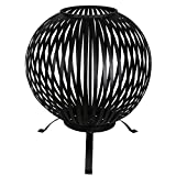 Esschert Design Feuerball, schwarz, Feuerschale, Grillen