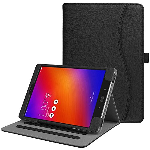 Fintie Case for Asus ZenPad 3S 10 Z500M / ZenPad Z10 ZT500KL - Multi-Angle Viewing Folio Stand Cover with Pocket for ZenPad 3S 10 / Verizon Z10 9.7-Inch Tablet (Black)