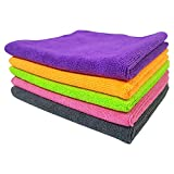 SOFTSPUN Microfiber Cloth - 5 pcs - 40x40 cms - 340 GSM Multi-Color - Thick Lint & Streak-Free Multipurpose Cloths - Automotive Microfibre Towels for Car Bike Cleaning Polishing Washing & Detailing car seat massagers May, 2021