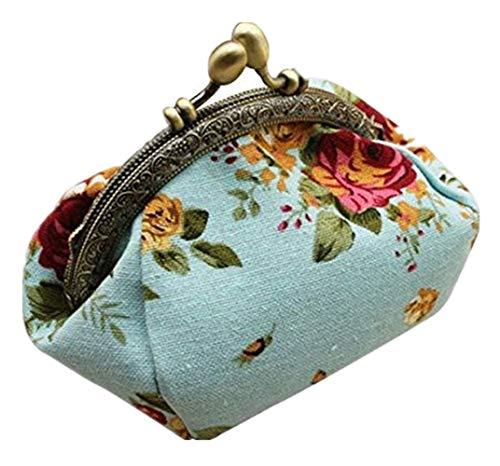 Hniunew Bestickte GeldböRse Retro Shanghai Strand Metallschnalle Damentasche Brieftasche Blume Drucken Portemonnaie Haspe Clutch Bag Ethnischen GeldböRse Handy Tasche Wallet Beutel