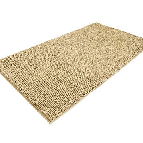 "MAYSHINE Absorbent Microfiber Chenille Dog Door mat Runner for Front Inside Floor Dirty Trapper Doormats, Quick Drying, Washable, Prevent Mud Dirt - 31""x59"" Beige"
