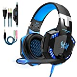 Micro Casque Gaming PS4,Casque Gamer Xbox One avec Micro Anti Bruit LED Lampe Audio...
