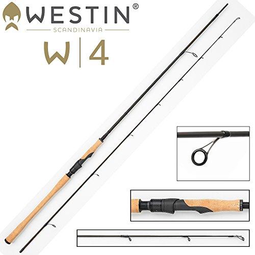 Westin W4 Spin 300cm MH 10-40g Spinnrute für Meerforelle, Angelrute zum Angeln auf Meerforellen, Rute zum Spinnfischen an der Ostsee, Nordsee & Küste auf Meerforelle & Hornhechte