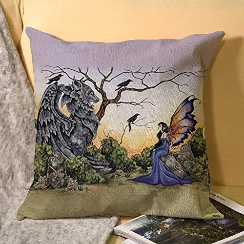 Best-design Tree Greetings - Funda de almohada decorativa con imán para nevera (45 x 45 cm)
