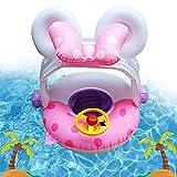 Baby Schwimmring Aufblasbarer,Schwimmhilfe Baby,Baby Float,Schwimmsitz Baby,Float Kinder Schwimmring,Kinder Schwimmreifen Spielzeug,Baby Pool Schwimmring mit Sonnenschutz