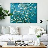 Flor de albaricoque, Vincent Van Gogh, artista famoso Arte Impreso Póster Cuadro de pared Lienzo Pintura al óleo Pared Sin marco Pintura decorativa en lienzo M42 40x60cm