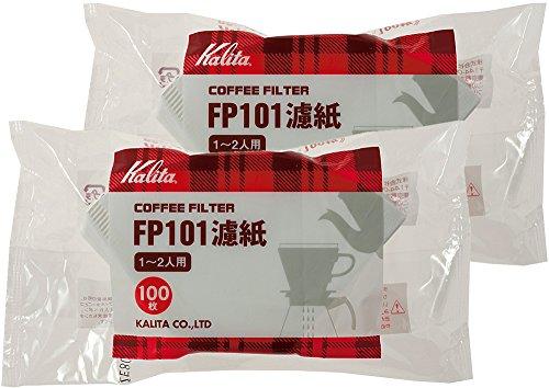 カリタ コーヒーフィルター FP101濾紙 1~2人用 100枚入り ホワイト 2袋セット #11109