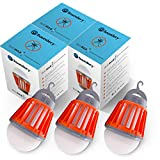 Bug Bulb 2 in 1 Camping Lantern by Boundery - Electric Bug Zapper Light Bulb - Portable Waterproof - Mosquito, Gnat, Fly Killer - LED Tent Lamp (360-400nm UV) - Indoor & Outdoor Bug Zapper (3 Pack)
