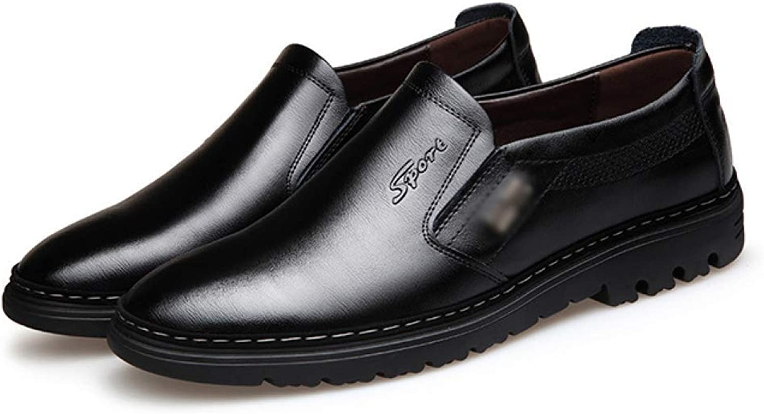 DHFUD Men's shoes Business Leather Casual shoes Comfort Footwear
