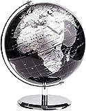 Globo Terráqueo en inglés | Bola del Mundo | Diámetro 10cm y 20 cm | Varios Modelos | Decoración Oficina y Escritorio | Varios Modelos (Oscuro/Plata)