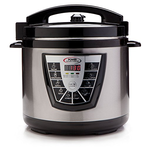 Power Pressure Cooker XL 8 Quart, Digital Non Stick Stainless Steel Steam Slow Cooker and...