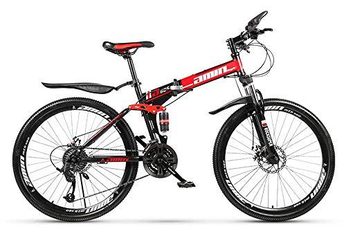 Bicicleta de montaña de 26 pulgadas, MTB plegable 26 '' Cambio de...