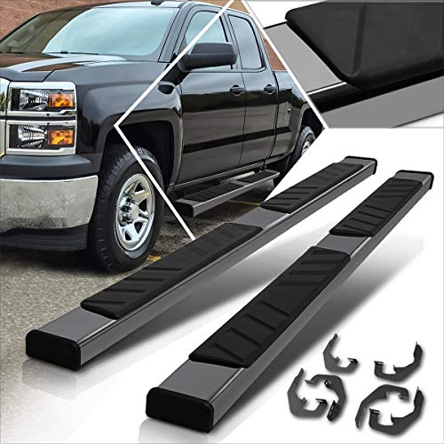 5 Inches Side Step Nerf Bar Compatible with Silverado/Sierra Extended Cab 07-19 Running Boards Black