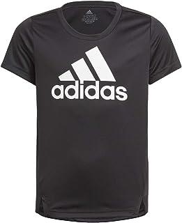 adidas girls ADIDAS GIRLS D2M BIG LOGO T-SHIRT T-SHIRT (SHORT SLEEVE)