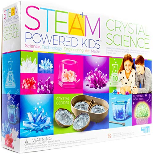 4M Deluxe Crystal Growing Combo Steam Science Kit - DIY Geology, Chemistry, Art, STEM Toys Gift for Kids & Teens, Boys & Girls JungleDealsBlog.com
