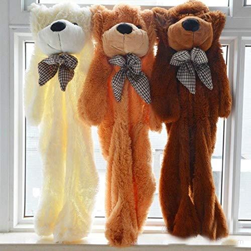 Cjwdxxnh 60CM to 200CM Cheap Giant unstuffed Empty Teddy Bear Bearskin Coat Soft Big Skin Shell Semi-Finished Plush Toys Soft Kid Doll White 120CM