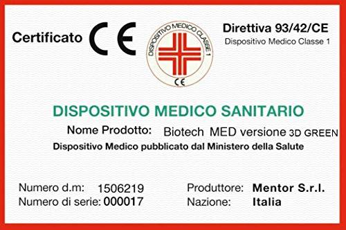 Mentor - Materasso Molle & Memory Med H3 Matrimoniale 160x190 Biotech Med 3D Green DISP. Medico DETRAIBILE 5 cm di Memory, H25 a 9 Zone