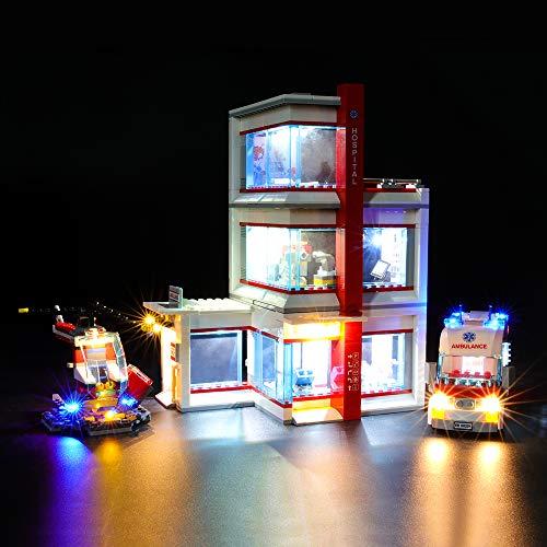 BRIKSMAX Led Beleuchtungsset für Lego City Krankenhaus,Kompatibel Mit Lego 60204 Bausteinen Modell - Ohne Lego Set